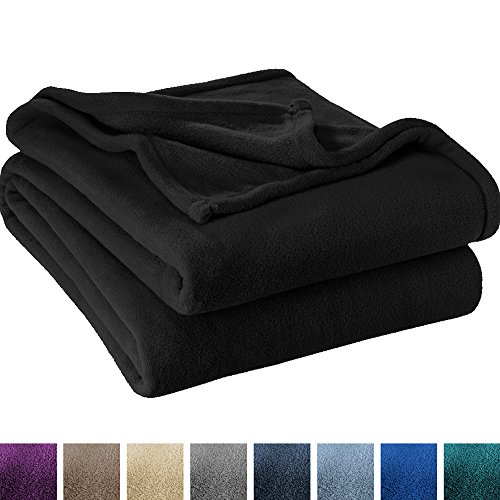 Ivy Union Ultra Soft Microplush Velvet Blanket - Luxurious Fuzzy Fleece Fur - All Season Premium Bed Blanket (King, Black) Black Microplush Throw