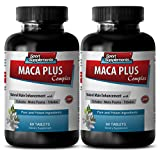 Libido tonic - MACA PLUS COMPLEX - NATURAL MALE ENHANCEMENT - Maca root pills - 2 Bottles 120 Tablets