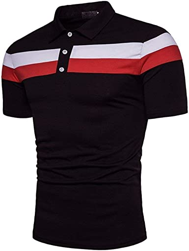 Polo De Los Hombres De Camisa Polo De Simple Estilo Golf De ...