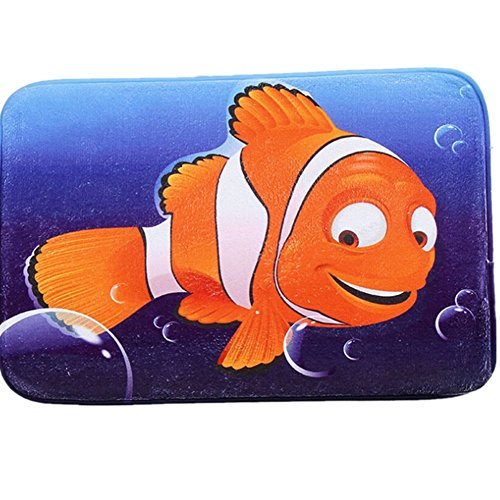 O-C Sea fish Outdoor Indoor Antiskid Absorbent Bedroom Livingroom Bath Mat Bathroom Shower Rugs - Online List Shopping Sites Indian