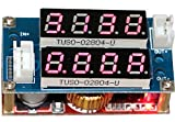 Yeeco DC-DC Buck Converter Voltage Volt Regulator 5-30V to 0.8-29V Step Down Power Supply Module Transformer Min Constant Adjustable Dual LED Display Red LED Ammeter Voltmeter Amp/Volt Current Volt Gauge Tester