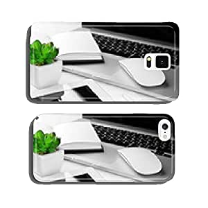 Office workplace with tablet and pot plant close up cell phone cover case iPhone6 Plus