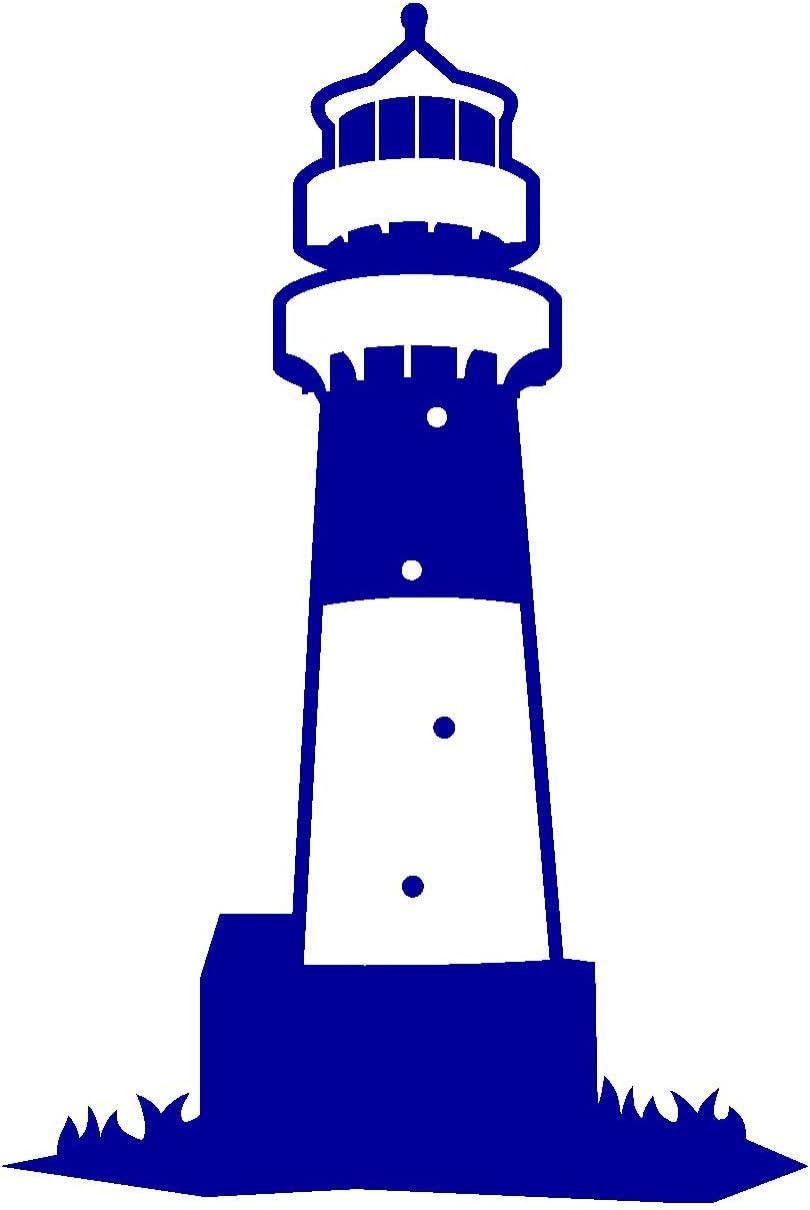 Samunshi Leuchtturm Büsum Aufkleber In 8 Größen Und 25 Farben 46x70cm Brillantblau Küche Haushalt