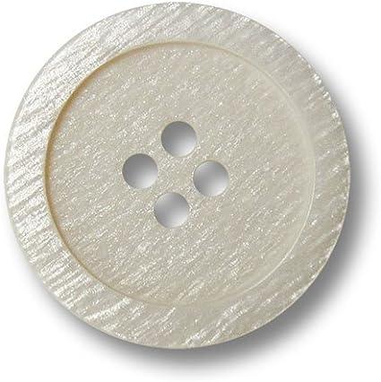 Knopfparadies 15mm 8er Set Cremefarbene Vierloch Kunststoffkn/öpfe mit Perlmutt Schimmer//Perlmuttartig Creme-Wei/ß//Kunststoff Kn/öpfe///Ø ca