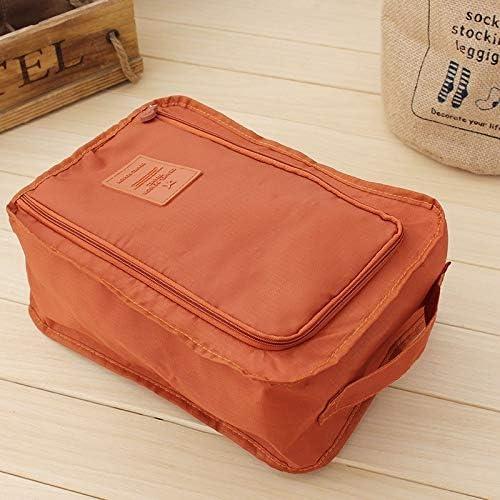 QUAN Storage Bag ジッパークロージャーシンプルな2 PCS防水シューズバッグポーチ収納トラベルバッグポータブルシューズオーガナイザー(グレー) (色 : Navy Blue)