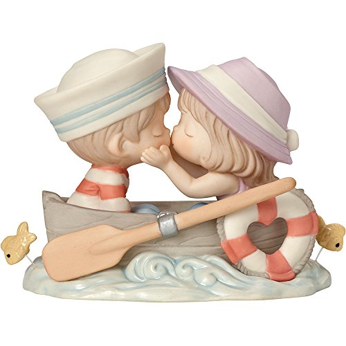 (Precious Moments 162002 You're The Only Fish In My Sea, Bisque Porcelain Figurine)