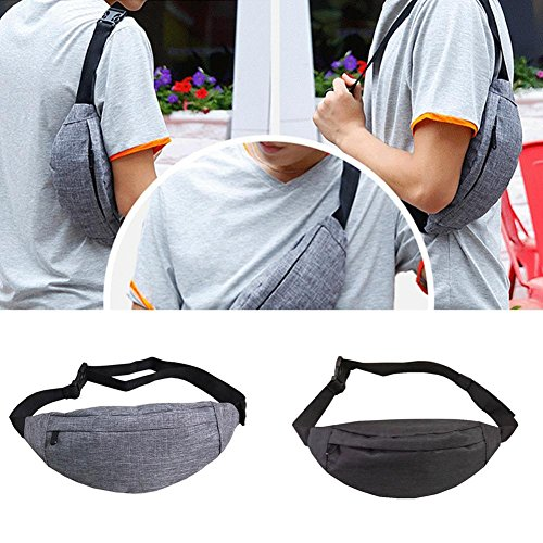 Pocket Wangwtry Cycling Travel And Chest For Running Men Bag Fitness Outdoor Gray Pack Women Sling Waist Waterproof Sports w1wqH