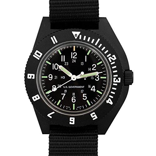MARATHON WW194001 Swiss Made Military Issue Milspec Navigator Quartz Pilot's Watch with Tritium (Black)