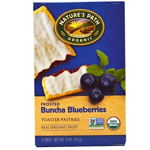 Nature's Path, Organic Frosted Toaster Pastries, Buncha Blueberries, 6 Tarts, 52 g Each(Pack of 1)
