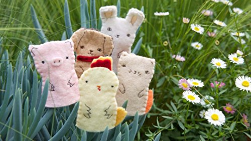 Hand Sew Farm Animal Finger Puppets