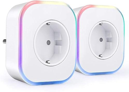 Enchufe Inteligente Wifi, ARINO Enchufes Inalámbricos Inteligentes con Luz de Noche, Temporizador y Puerto USB Compatible con Alexa y Google Asistente, para Android / iOS (2 PACK): Amazon.es: Bricolaje y herramientas