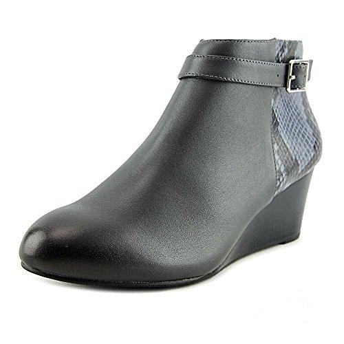 Vionic Womens Elevated Shasta Wedge Boot Grey Snake
