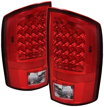 ALT-JH-DR07-LED-SM Dodge RAM Smoke LED Tail Light Pair Spyder Auto