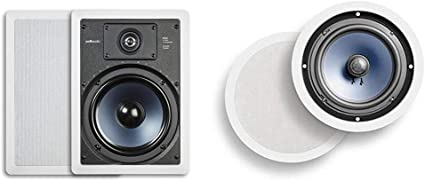 NEW Polk Audio RC80i 2-Way In-Ceiling//In-Wall Speakers Pair White BRAND NEW