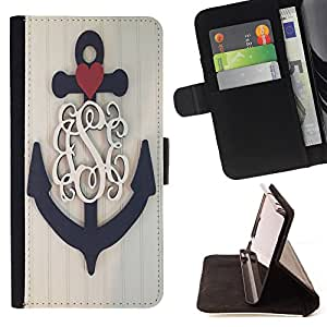 - Anchor Boat Pattern - - Style PU Leather Case Wallet Flip Stand Flap Closure Cover FOR LG G2 D800 - Devil Case -