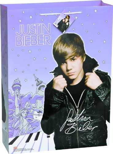 Justin Bieber Jumbo Gift Bag (Halloween Justin Bieber)