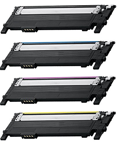 4 Pack CLT-406S BCMY Combo Toner Cartridge for Samsung Compatible with: CLX 3300 3305 SL C460 410 CLP 360 365 Xpress C460 C410