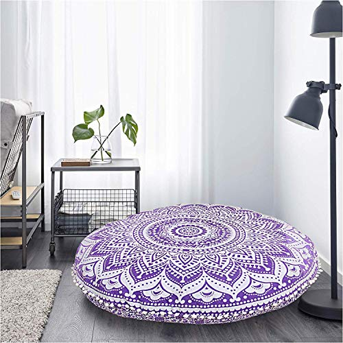 Beautiful Purple Ombre Floor Pillow Cushion Seating Cover Hippie Hippie Decorative Cover Size 32