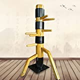 WUDETONTraditional Kung Fu Wing Chun Wooden Dummy with Protective Pads, Wing Chun Wooden Dummy Mook Yan Jong, Ip Man Wooden Dummy review