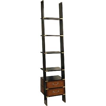 amazoncom authentic models library ladder bookcase tchaikovsky argerich kondrashin kitchen dining - Metal Library Bookshelves