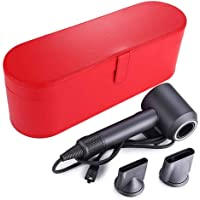 Hard Travel Storage Case for Dyson Supersonic Hair Dryer, Portable PU Leather Flip Hard Box Accessories Compatible with Dyson Hair Dryer Cheap (Red)