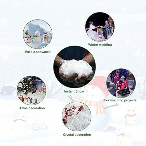 - Instant Snow Powder Fluffy White Fake Snow Realistic Magic White Snow Decoration for Slime Christmas Performance