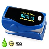 Pulse Oximeter, Finger Portable FDA Approved Digital Blood Oxygen and Pulse Sensor Meter