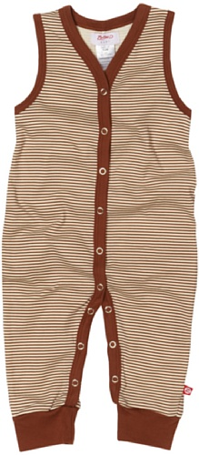 Zutano Candy Stripe Sleeveless Romper, Chocolate, 12 Months ( 6 12 months)