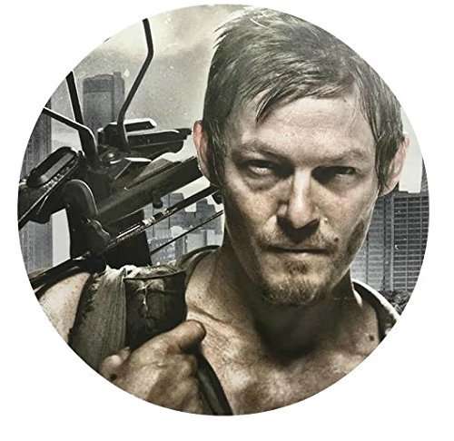 The Walking Dead 12 Cupcake Toppers TWD Daryl Edible Image Photo Cake Topper Sheet Personalized Custom Customized Birthday Party - 2.5 Inch (12 Toppers) - 76871 -