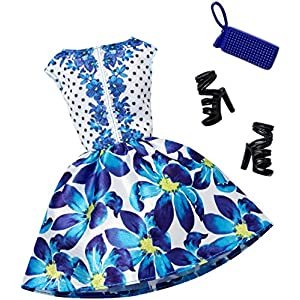 Barbie Complete Look Fashion Pack, Blue Floral Dress - 51c 2BR2Sp5kL - Barbie Complete Look Fashion Pack, Blue Floral Dress