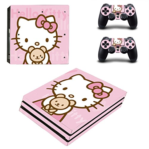 Adventure Games PS4 PRO - Hello Kitty - Playstation 4 Vinyl Console Skin Decal Sticker + 2 Controller Skins Set