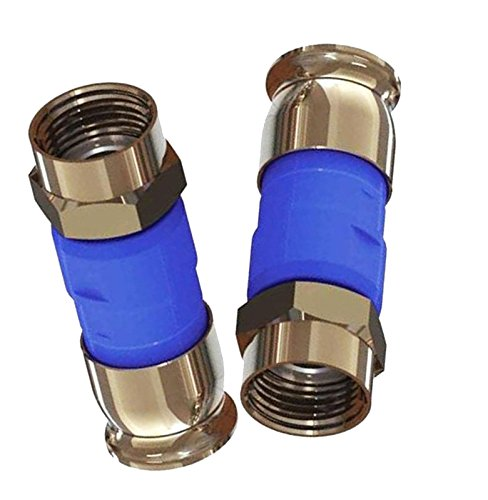 50 Pieces RG6 BELDEN SNSD6 Blue Snap-N-Seal Ultimate Coax Compression ConnectorsAT&T DIRECTV APPROVED Anti-Rust Nickel Coaxial Connectors 21mm Stroke Length
