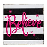 BrylaneHome Inspirational Holiday Wall Art (Believe,0)