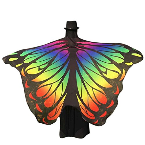 Perman Halloween / Christmas Ideas Costumes For Women Butterfly Wings Cover Fairy Cosplay - 197x125CM (Corset Halloween Costume Ideas)