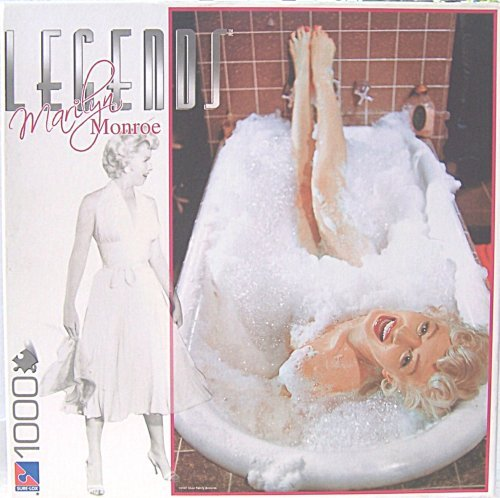 - Marilyn Monroe - Legends Series - Marilyn Taking a Bubble Bath in the Tub - SUR LOX 1000 Piece Jigsaw Puzzle by Sure-Lox