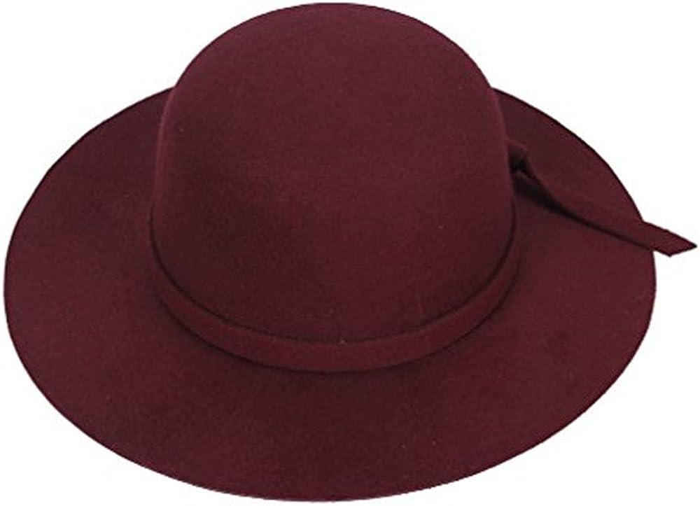 Dealzip Inc Girls Floppy Hat Heat Vintage Kids Wide Brim Fedora Cap Fit Hair