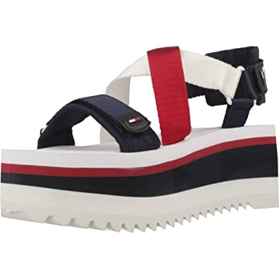 6315469ceb3d Image Unavailable. Image not available for. Color  Tommy Jeans Sporty  Neoprene Flat Womens Sandals ...