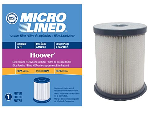 DVC Micro-Lined Hoover Elite Rewind Bagless Upright Washable Dust Cup Filter for 59157055, or AH43001