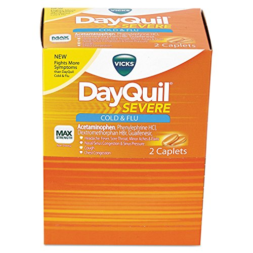 DayQuil PFY BXDXSV25 BX-DXSV-25 Caplets, Daytime, Severe Cold and Flu (Pack of 25) ()