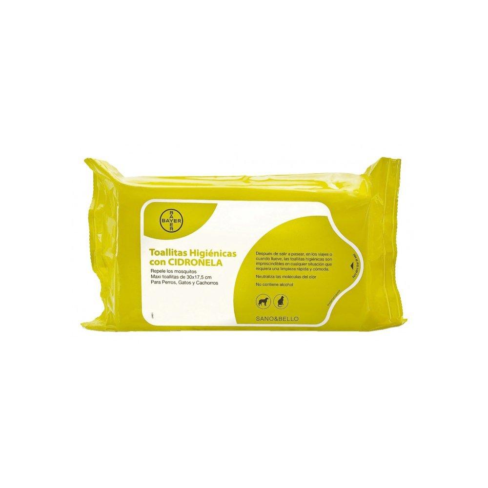 Bayer Sano & Bello Pack de 35 Toallitas Limpiadoras con Cidronela - - 1 Pack de Toallitas: Amazon.es: Productos para mascotas