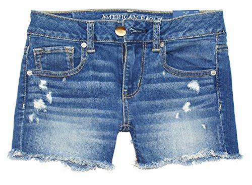 Eagle Denim Shirt - American Eagle Women's Midi Shortie Shorts W-25 (00, 4363 Medium Destroyed)