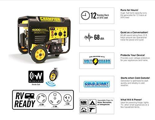 Champion-Power-Equipment-Model-46565-3500-4000-Watt-Remote-Start-Portable-Gas-Powered-Generator-Not-For-Sale-in-California