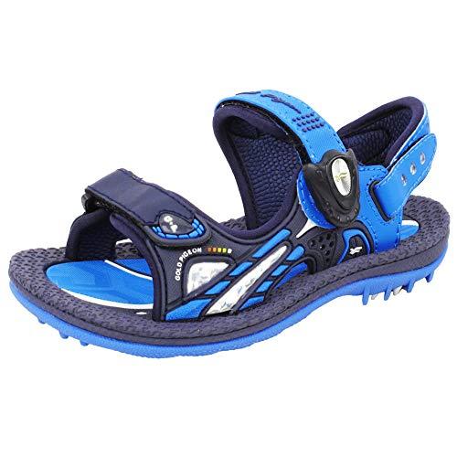 Gold Pigeon Shoes GP Kids Signature SNAP Lock Sandals: 6945 Blue, EU27 (Size: Toddler 10.5-11) ()