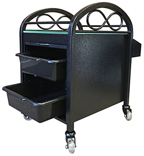 Continuum Infinity Salon & Spa Pedicure Accessory Cart In BLACK + FREE Cape Co. Apron ($20 value)
