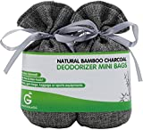 BUY MORE SAVE MORE Great Value SG Bamboo Charcoal Deodorizer Mini Bags, Best Air Purifiers for Smokers & Allergies, Perfect Odor & Moisture Absorber for Shoe, Gym Bag, Drawer & Locker (Silver Grey)