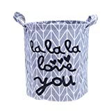 DTGTHDAS Foldable Washing Laundry Basket Hamper Cotton Linen Bag Wardrobe Clothes Storage Bag Toy Basket Toy Container 4 Colors Gray