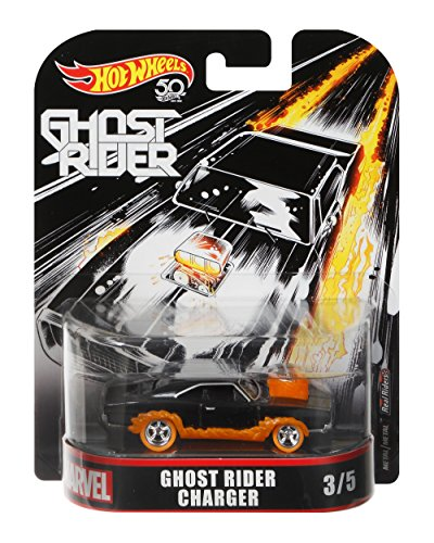 Hot Wheels Ghost Rider Charger Vehicle, 1:64 Scale ()