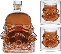Bkuter Bottle - Jarra de whisky creativa transparente para whisky