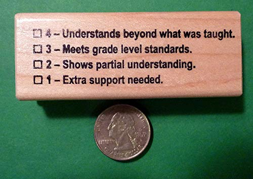 OutletBestSelling Understands 4321 Rubric - Teacher's Wood Mounted Rubber Stamp