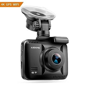Cámara de Coche 4K 2160P con WiFi y GPS,Dashcam Grabadora Ultra HD de Ángulo Amplio 170° con G-Sensor,Monitoreo de estacionamiento,Detección de ...